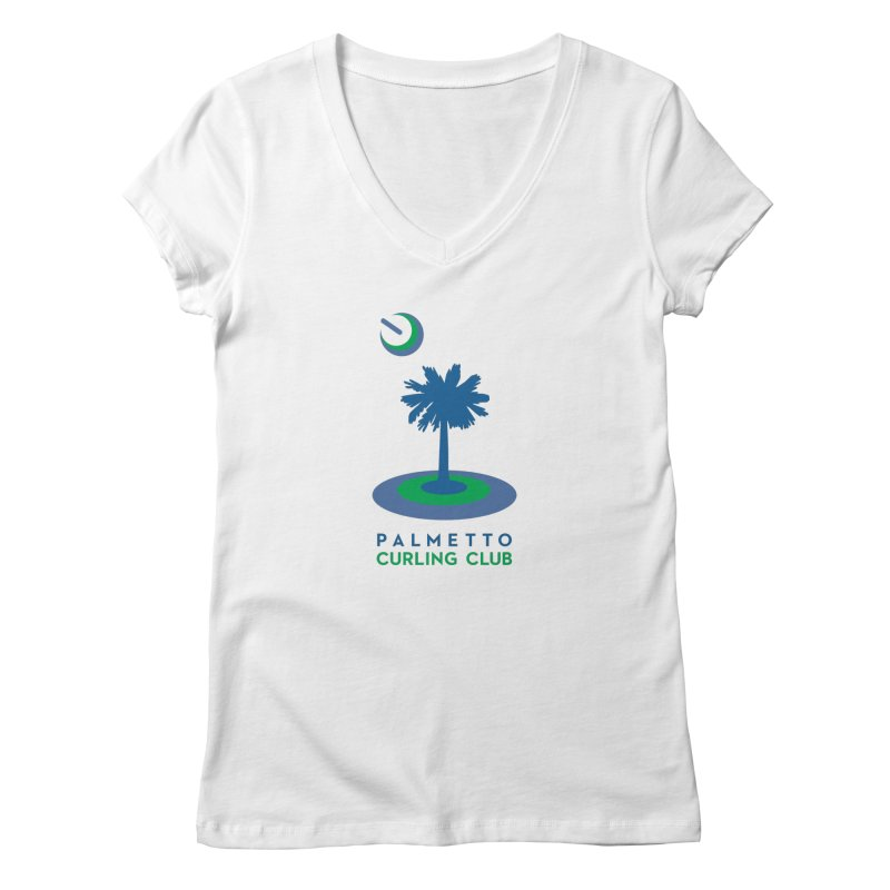 Light Apparel in Women's Regular V-Neck White by Palmetto Curling Club Swag