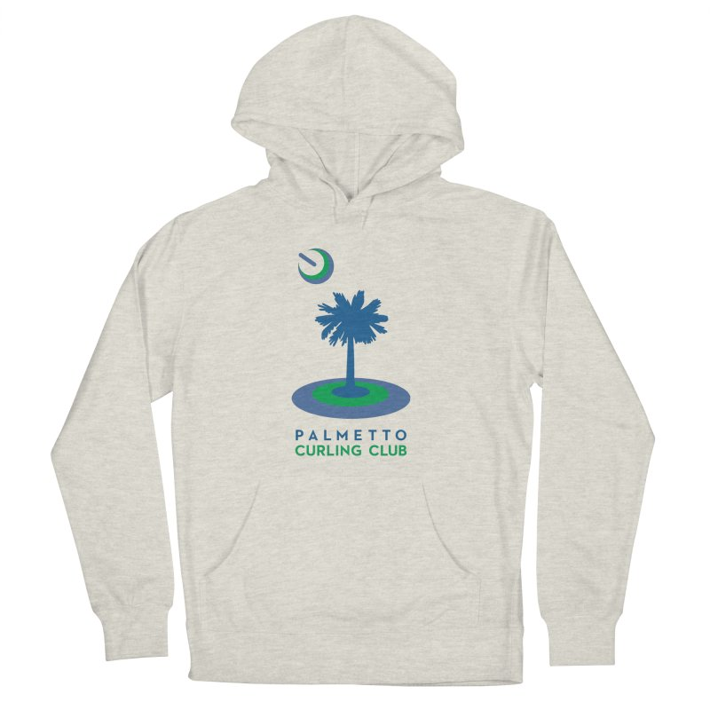 Light Pullover Hoodies in Men's French Terry Pullover Hoody Heather Oatmeal by Palmetto Curling Club Swag