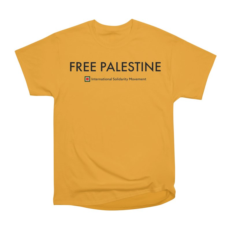 FREE PALESTINE - Black Women's Classic Unisex T-Shirt by International Solidarity Movement