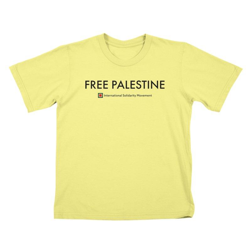 FREE PALESTINE - Black Kids T-shirt by International Solidarity Movement