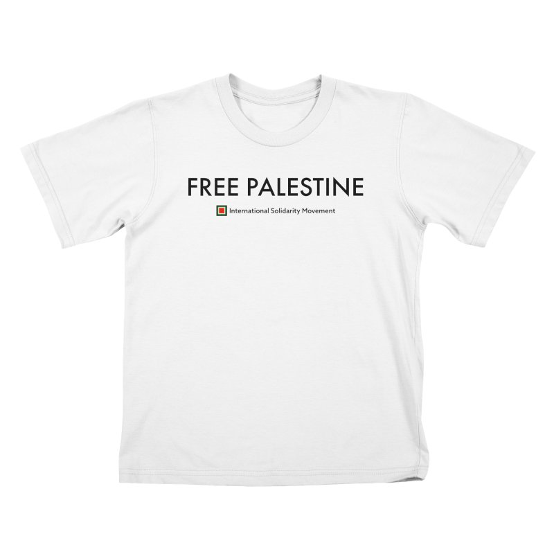 FREE PALESTINE - Black Kids T-Shirt by International Solidarity Movement