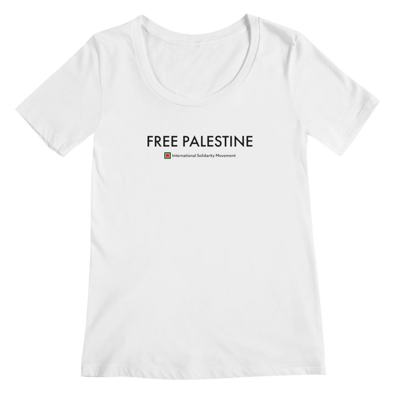 FREE PALESTINE - Black Women's Scoopneck by International Solidarity Movement