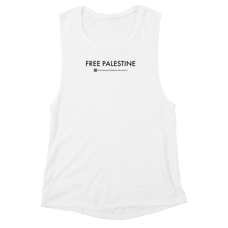 FREE PALESTINE - Black Women's Muscle Tank by International Solidarity Movement