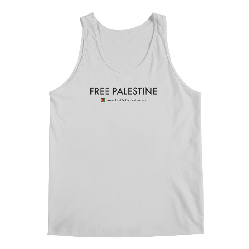 FREE PALESTINE - Black Men's Tank by International Solidarity Movement