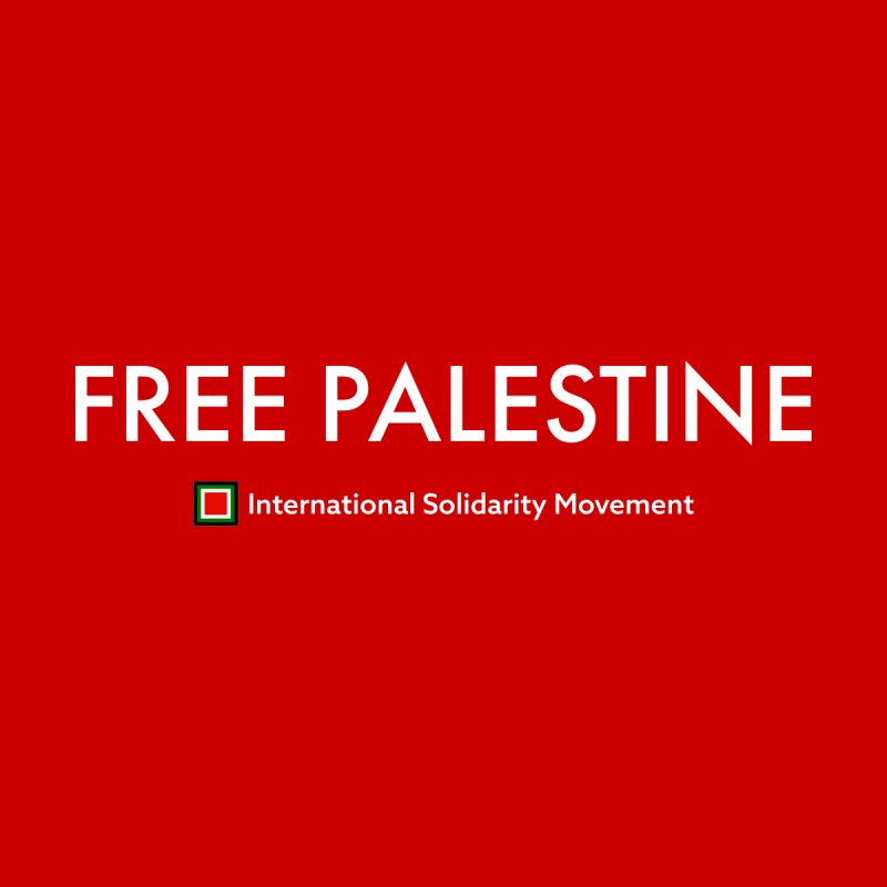 FREE PALESTINE - White by International Solidarity Movement