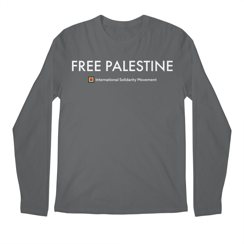 FREE PALESTINE - White Men's Regular Longsleeve T-Shirt by International Solidarity Movement