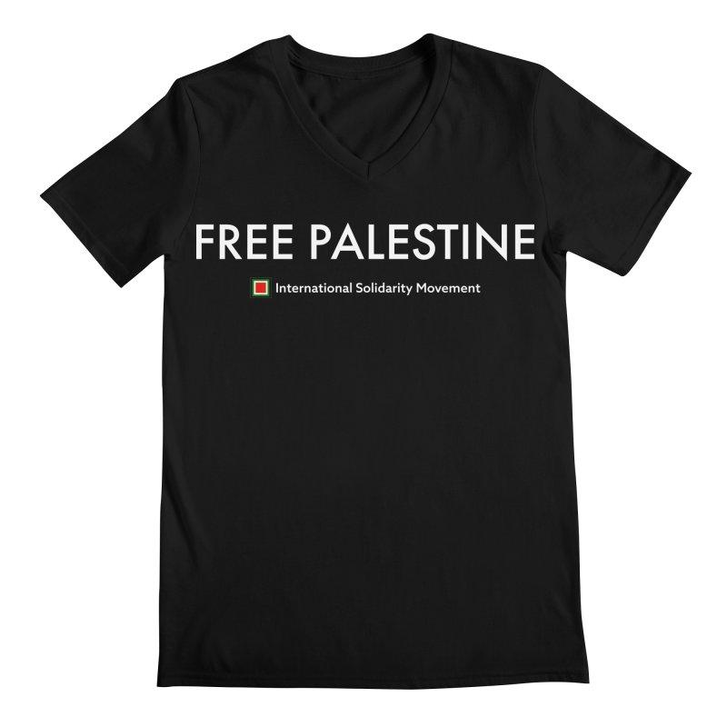 FREE PALESTINE - White Men's V-Neck by International Solidarity Movement