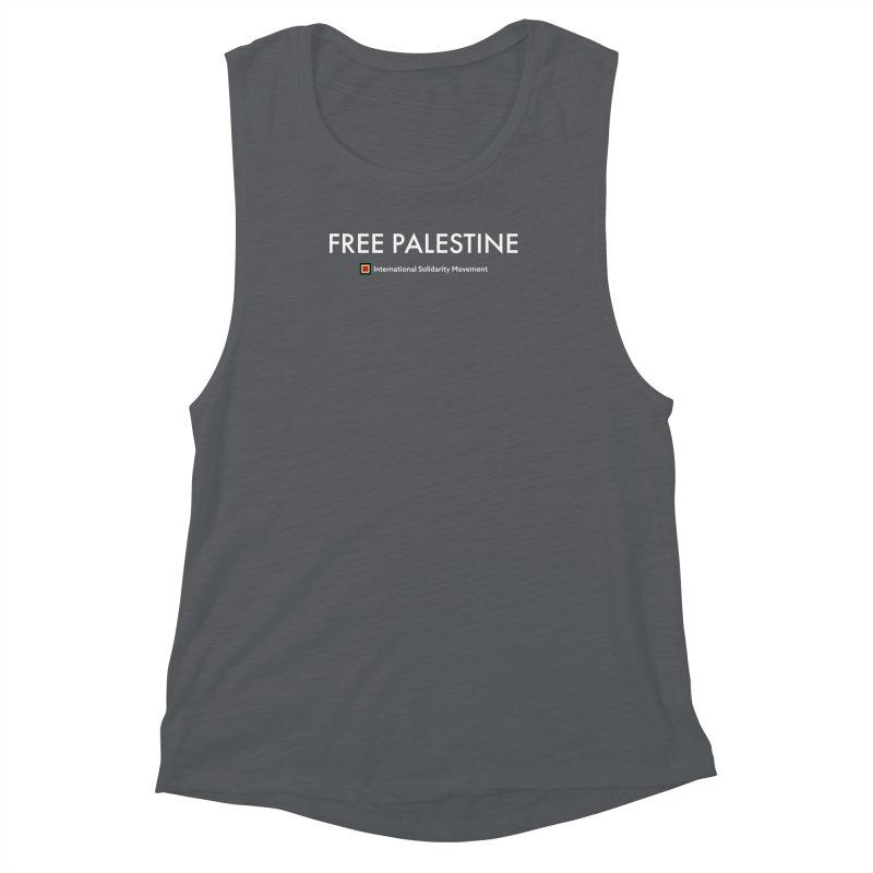 FREE PALESTINE - White Women's Muscle Tank by International Solidarity Movement