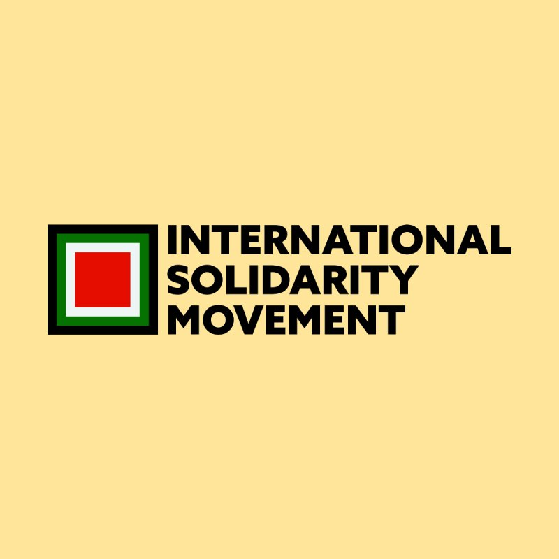 ISM Logo Tee - Black None  by International Solidarity Movement