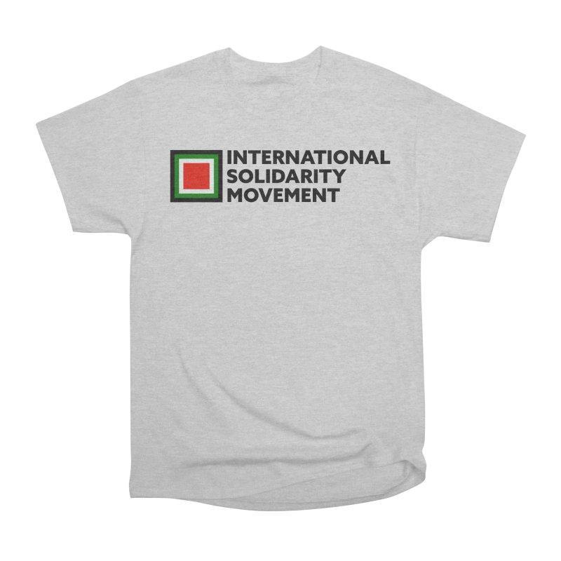 ISM Logo Tee - Black Men's Heavyweight T-Shirt by International Solidarity Movement