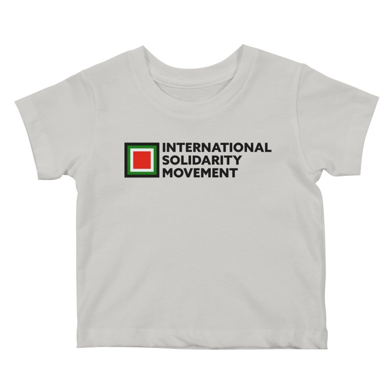 ISM Logo Tee - Black Kids Baby T-Shirt by International Solidarity Movement