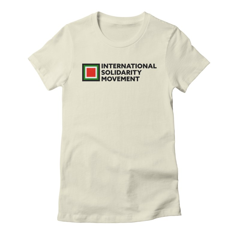 ISM Logo Tee - Black Women's Fitted T-Shirt by International Solidarity Movement