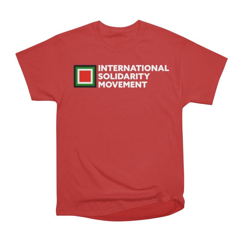 ISM Logo Tee - White Women's Classic Unisex T-Shirt by International Solidarity Movement