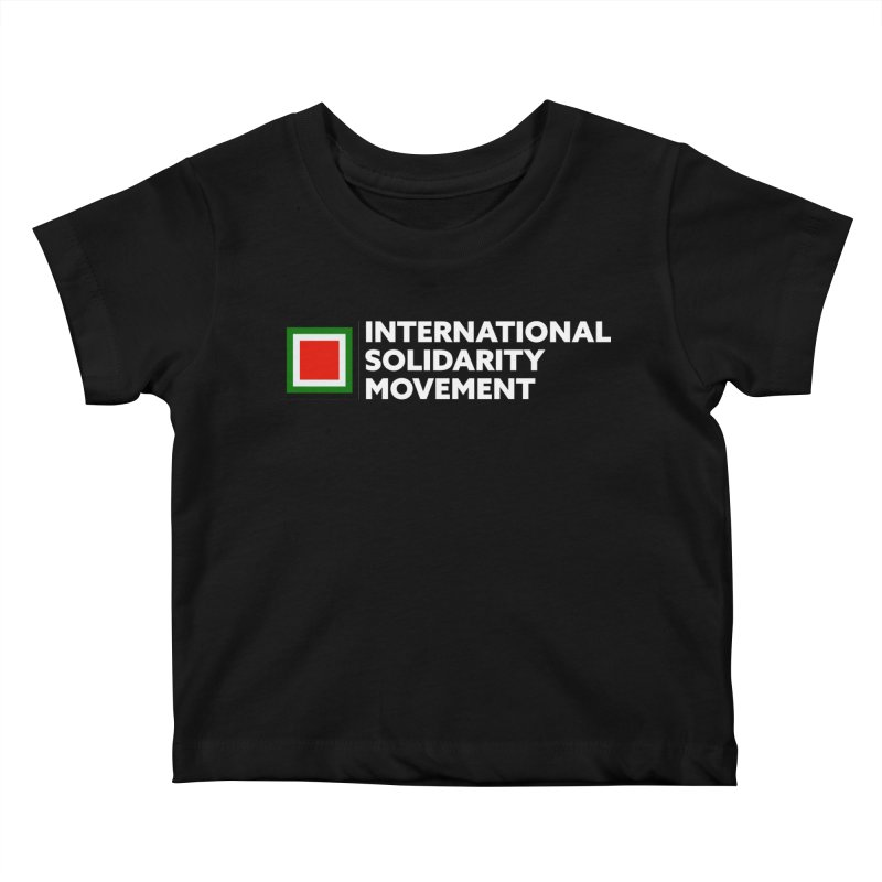 ISM Logo Tee - White Kids Baby T-Shirt by International Solidarity Movement