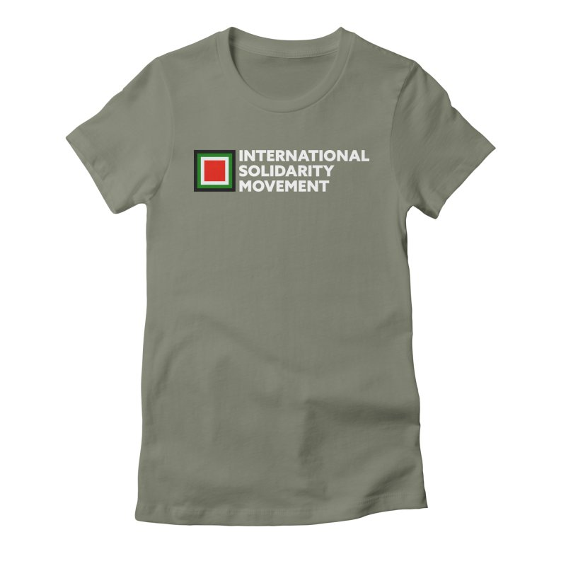 ISM Logo Tee - White Women's Fitted T-Shirt by International Solidarity Movement