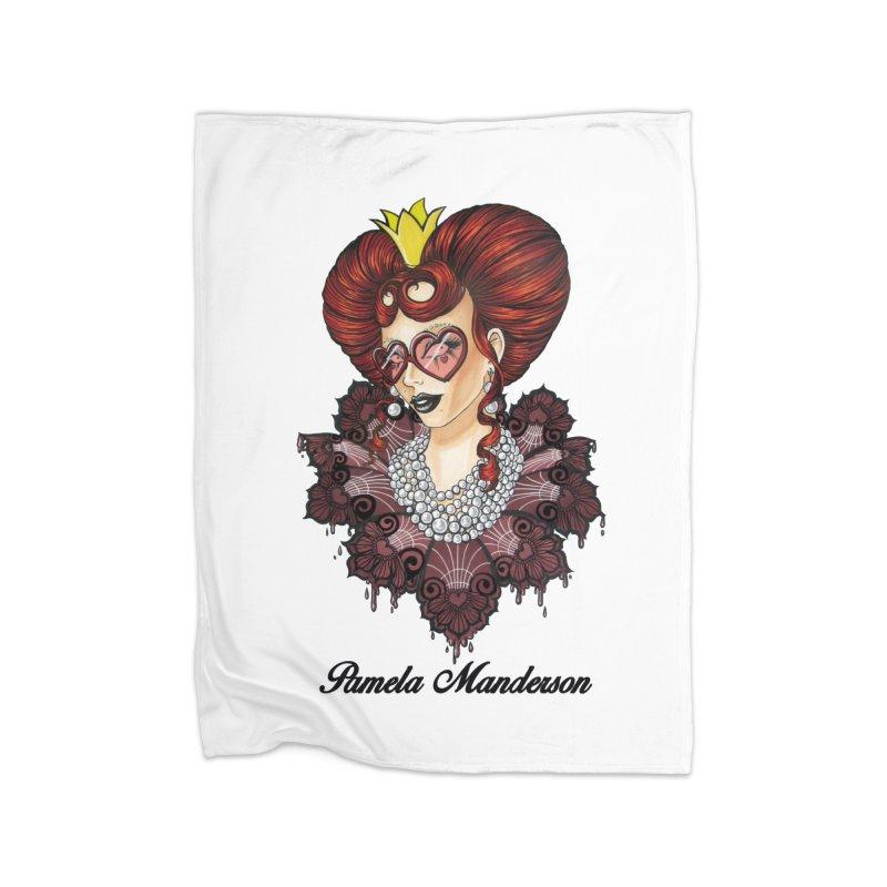 Queen of Hearts Home Blanket by Pamela Manderson's Artist Shop