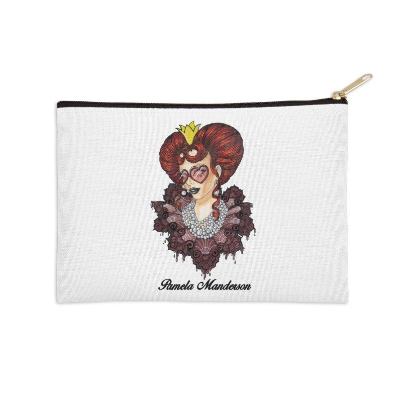 Queen of Hearts Accessories Zip Pouch by Pamela Manderson's Artist Shop