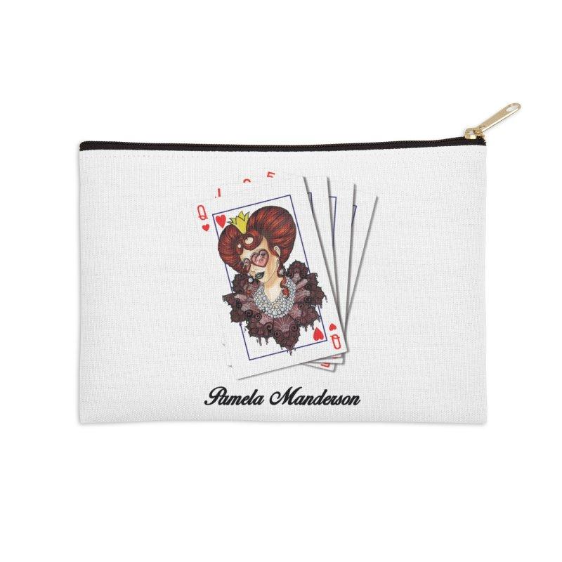 Queen of Hearts 2 Accessories Zip Pouch by Pamela Manderson's Artist Shop