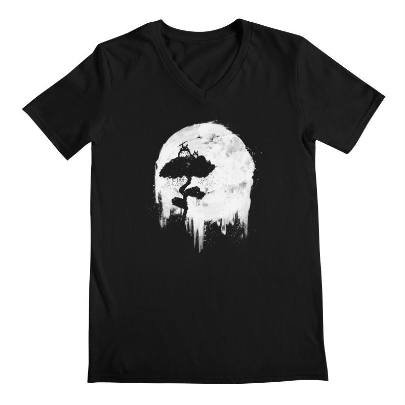 Midnight Spirits Men's Regular V-Neck by PandaBacon's Artist Shop