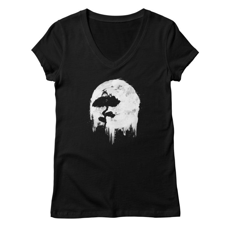 Midnight Spirits Women's V-Neck by PandaBacon's Artist Shop