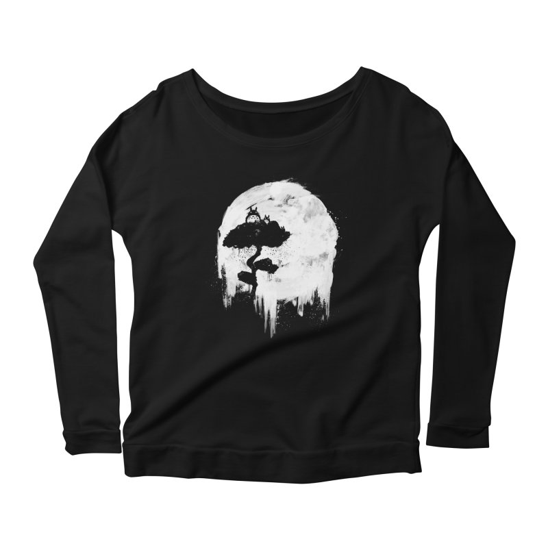 Midnight Spirits Women's Scoop Neck Longsleeve T-Shirt by PandaBacon's Artist Shop