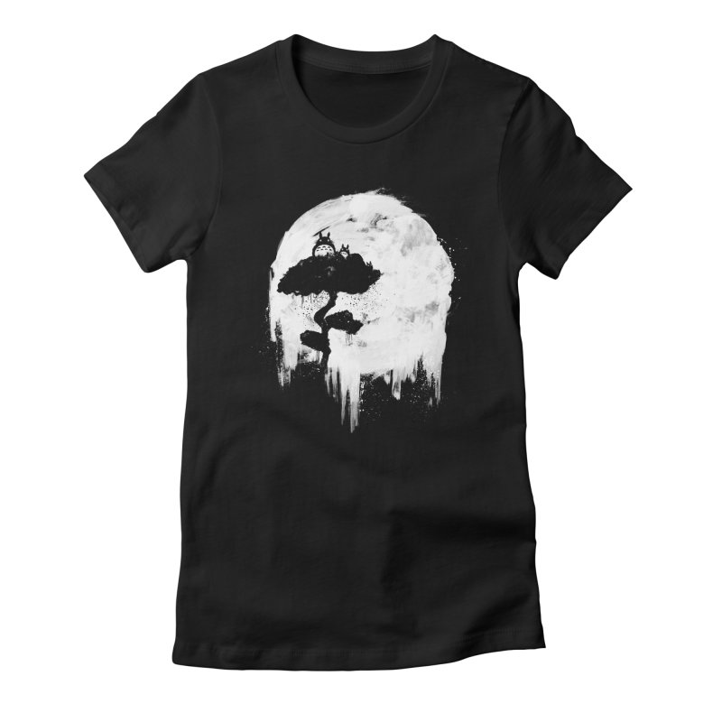 Midnight Spirits Women's Fitted T-Shirt by PandaBacon's Artist Shop