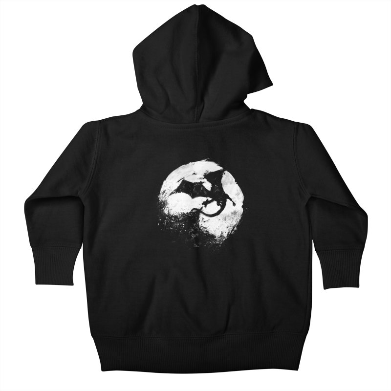 Midnight Desolation Kids Baby Zip-Up Hoody by PandaBacon's Artist Shop