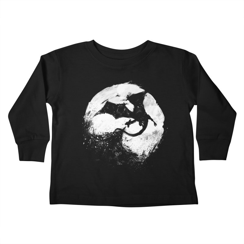 Midnight Desolation Kids Toddler Longsleeve T-Shirt by PandaBacon's Artist Shop