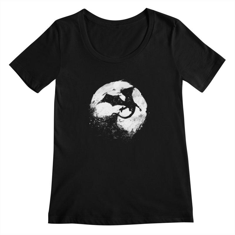 Midnight Desolation Women's Scoopneck by PandaBacon's Artist Shop