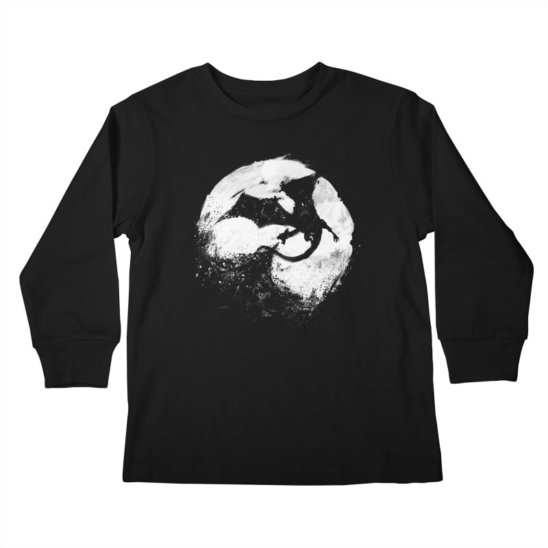 Midnight Desolation Kids Longsleeve T-Shirt by PandaBacon's Artist Shop