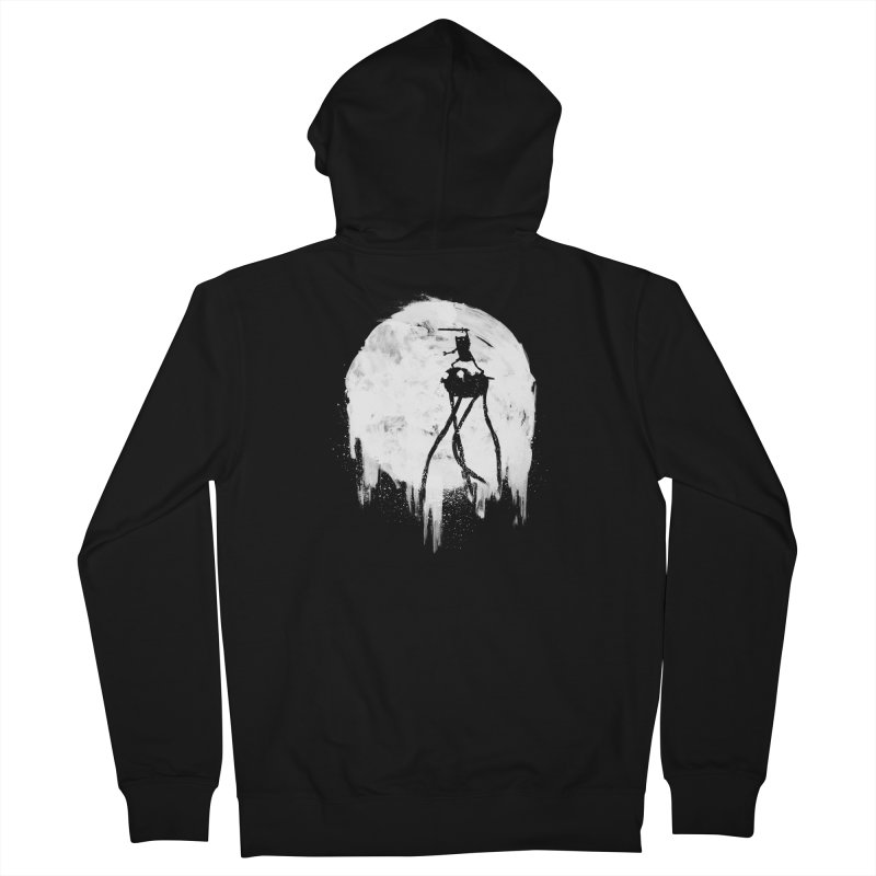 Midnight Adventure Men's French Terry Zip-Up Hoody by PandaBacon's Artist Shop