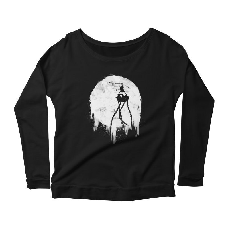Midnight Adventure Women's Longsleeve Scoopneck  by PandaBacon's Artist Shop