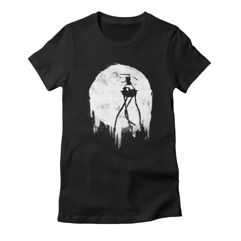 Midnight Adventure Women's Fitted T-Shirt by PandaBacon's Artist Shop