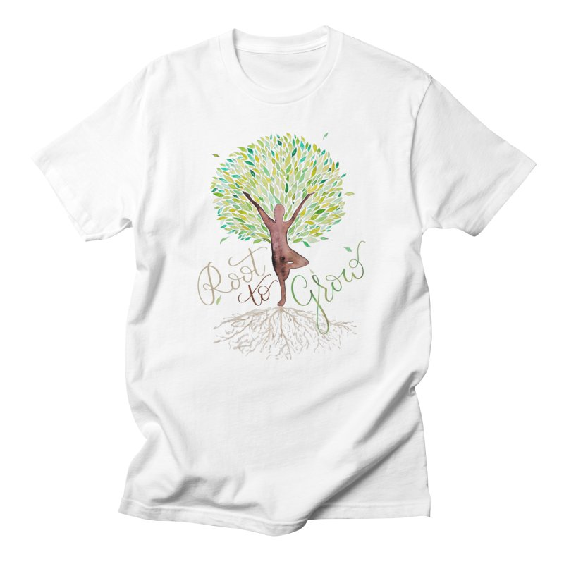 Root to Grow Men's T-Shirt by Panda Grove Studio's Artist Shop
