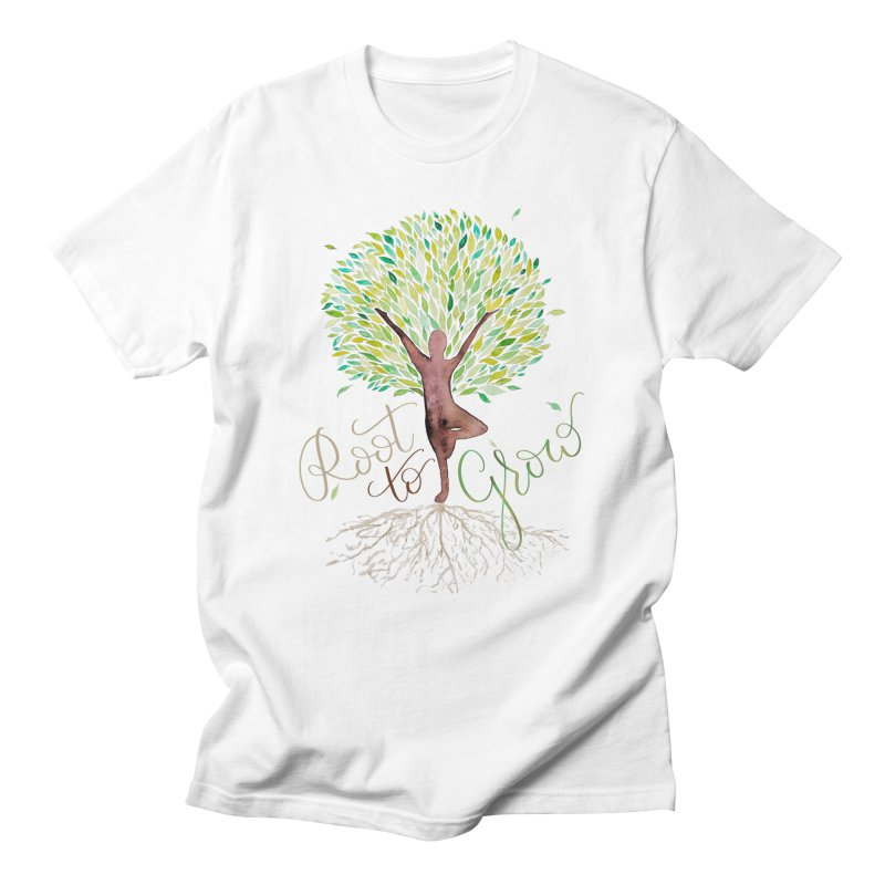 Root to Grow Men's Regular T-Shirt by Panda Grove Studio's Artist Shop