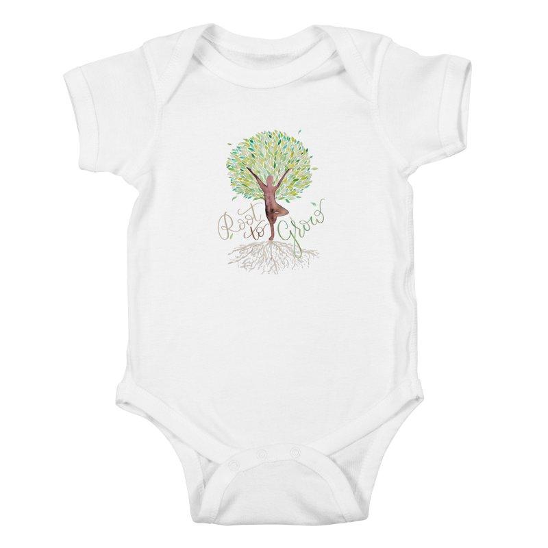 Root to Grow Kids Baby Bodysuit by Panda Grove Studio's Artist Shop