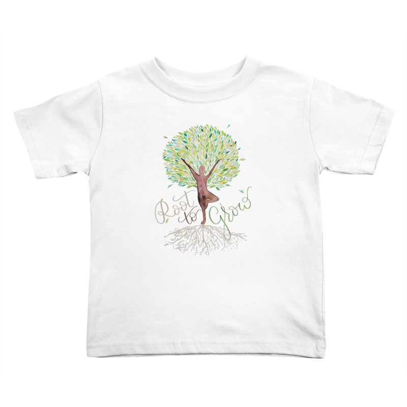 Root to Grow Kids Toddler T-Shirt by Panda Grove Studio's Artist Shop