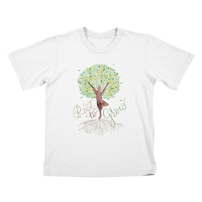 Root to Grow Kids T-Shirt by Panda Grove Studio's Artist Shop