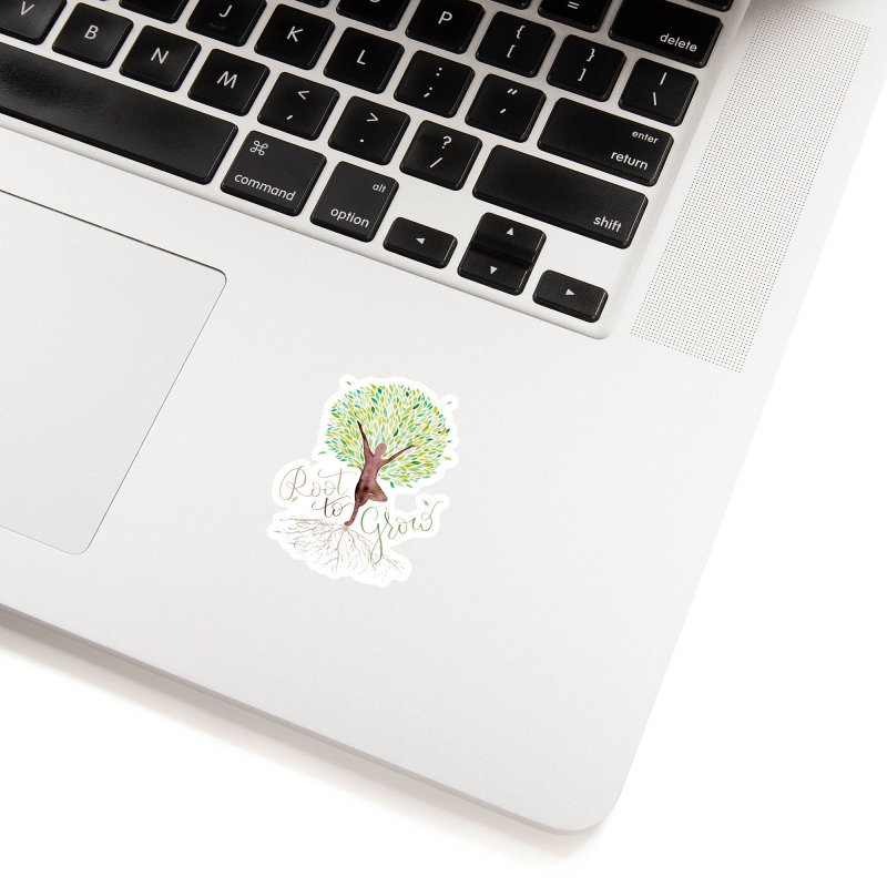 Root to Grow Accessories Sticker by Panda Grove Studio's Artist Shop