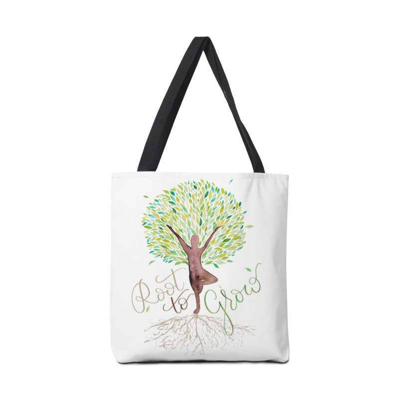 Root to Grow Accessories Tote Bag Bag by Panda Grove Studio's Artist Shop