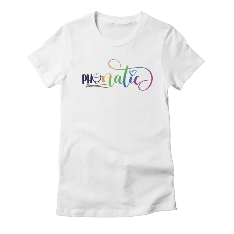 Phonatic Women's Fitted T-Shirt by Panda Grove Studio's Artist Shop