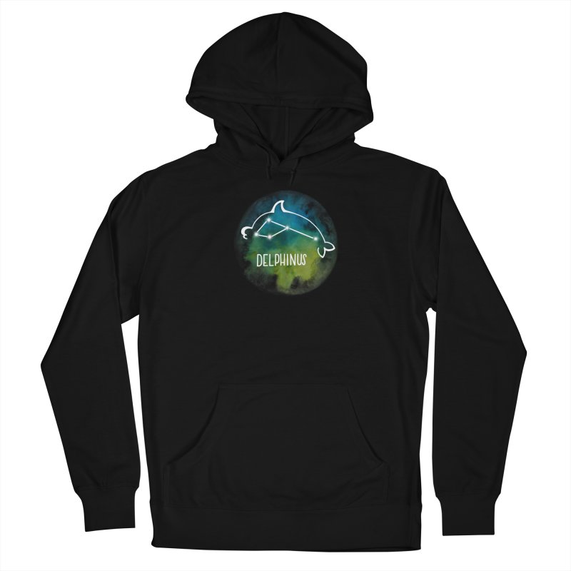 Delphinus Women's French Terry Pullover Hoody by Panda Grove Studio's Artist Shop