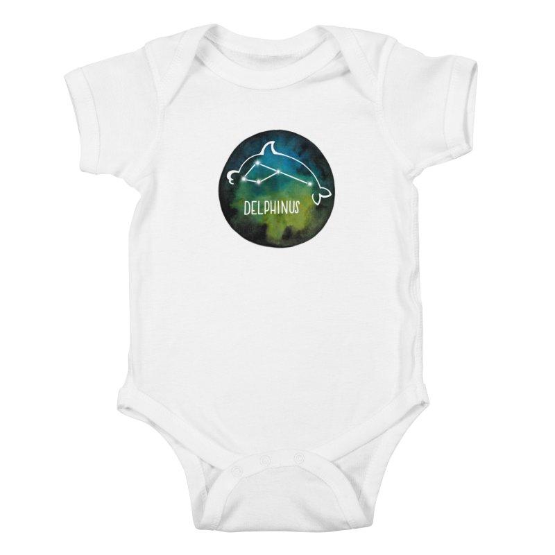 Delphinus Kids Baby Bodysuit by Panda Grove Studio's Artist Shop