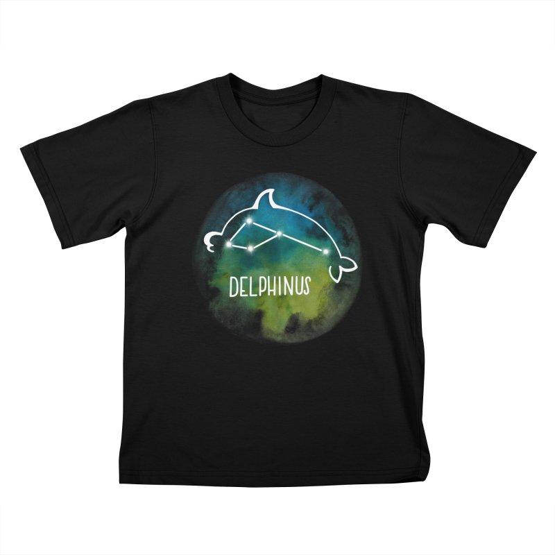 Delphinus Kids T-Shirt by Panda Grove Studio's Artist Shop