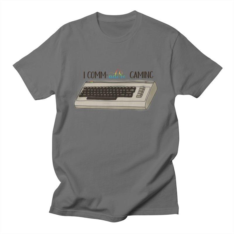 Comm-adore Gaming Men's T-Shirt by Panda Grove Studio's Artist Shop