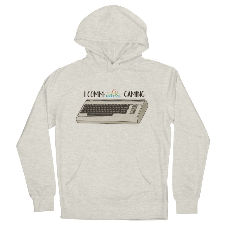 Comm-adore Gaming Women's French Terry Pullover Hoody by Panda Grove Studio's Artist Shop