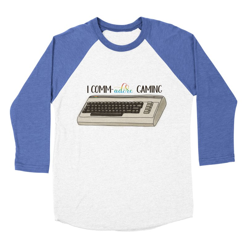 Comm-adore Gaming Men's Baseball Triblend Longsleeve T-Shirt by Panda Grove Studio's Artist Shop