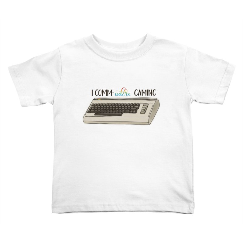 Comm-adore Gaming Kids Toddler T-Shirt by Panda Grove Studio's Artist Shop