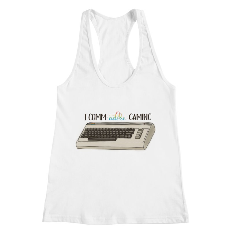 Comm-adore Gaming Women's Racerback Tank by Panda Grove Studio's Artist Shop