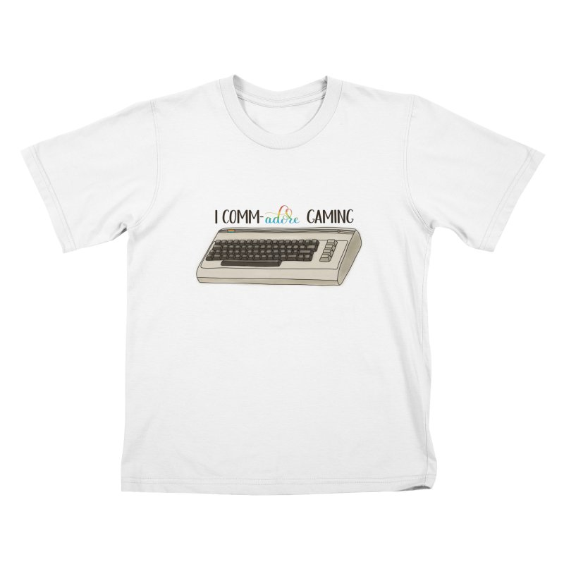Comm-adore Gaming Kids T-Shirt by Panda Grove Studio's Artist Shop